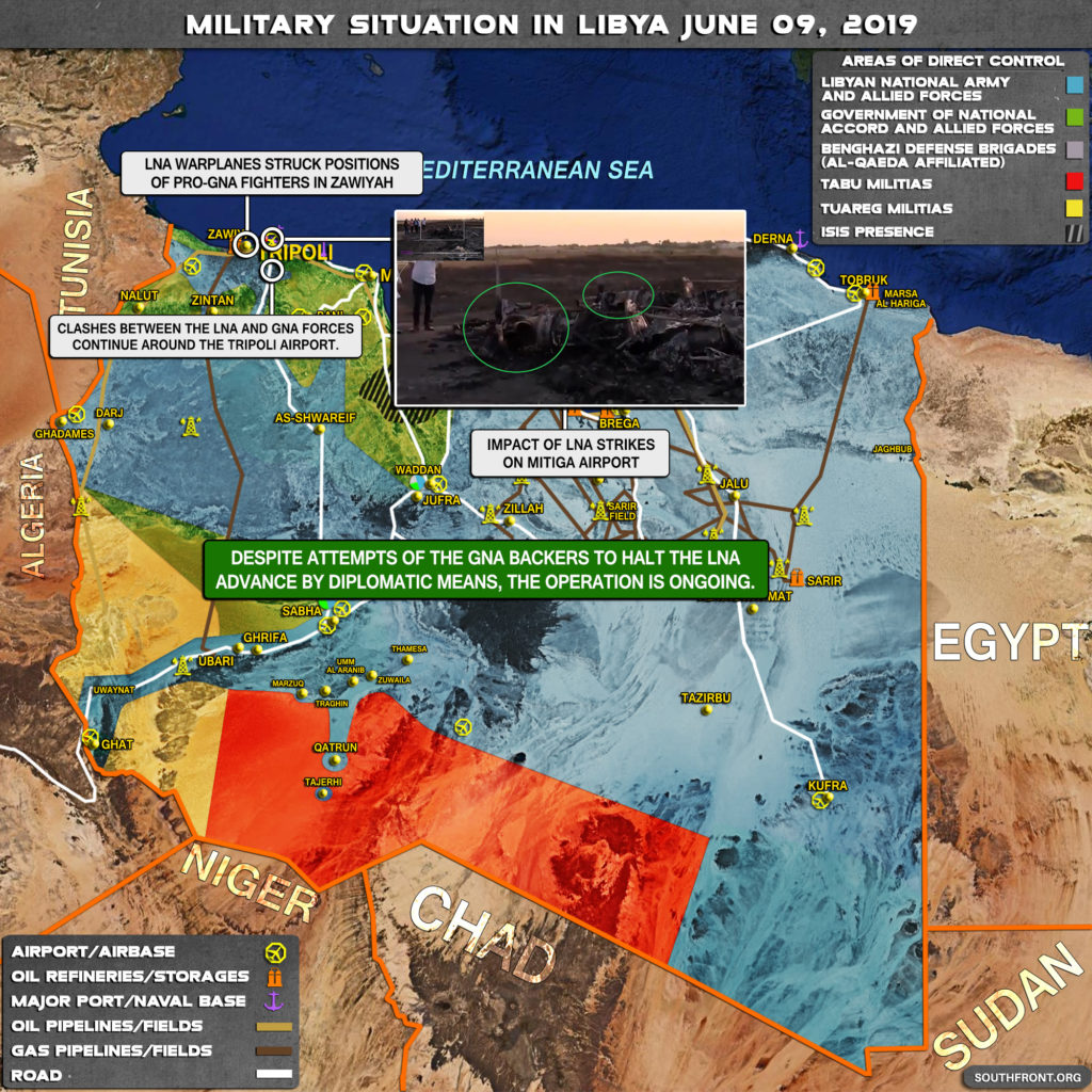 Military Situation In Libya On June 9, 2019 (Map Update)