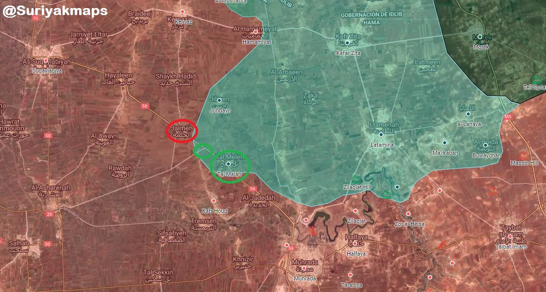Syrian Army Repels Terrorists' Attack On Jalmeh In Northern Hama (Map)