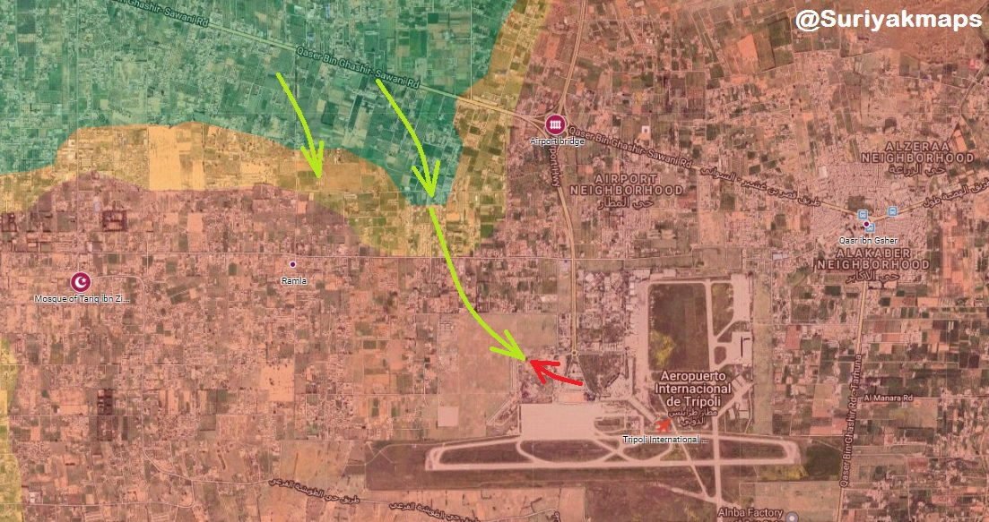 GNA Forces Launch Large Attack On Tripoli Airport, Fall Into Ambush