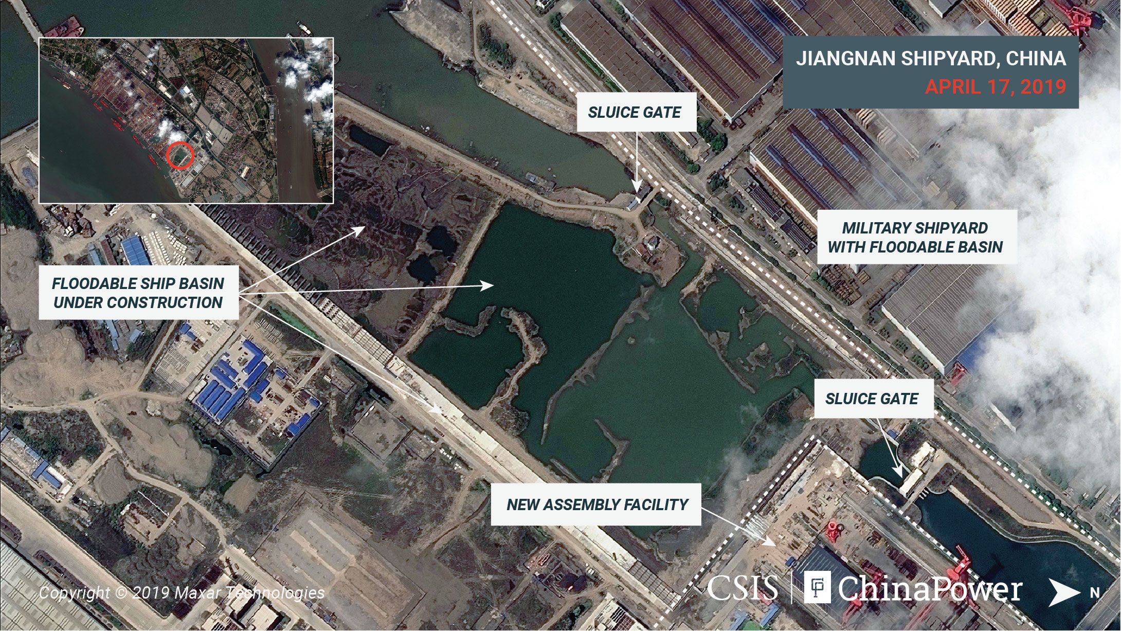 Satellite Imagery Shows Three Chinese Aircraft Carriers Simultaneously