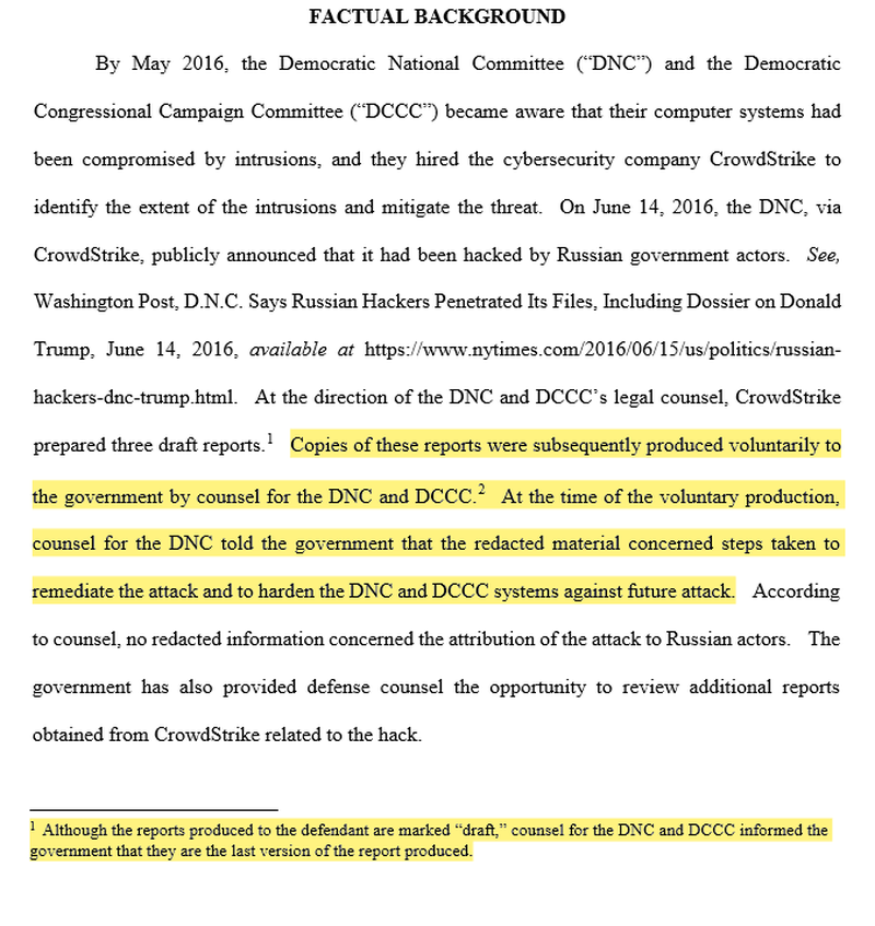 US Govt Based Conclusion That Russia Hacked DNC Servers On Redacted Draft Of Unfinished Report
