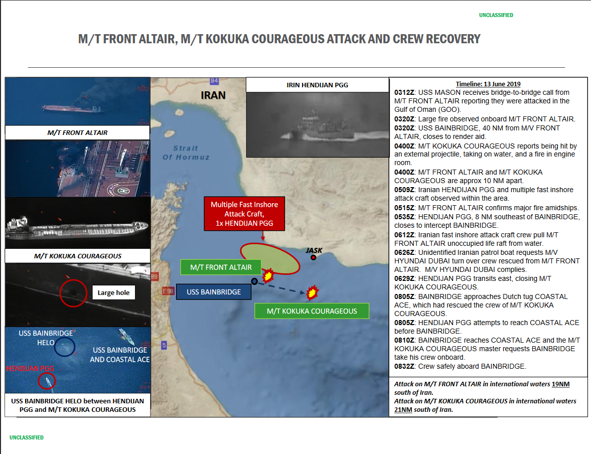 Pentagon Released More 'Evidence' To Support Claims That Iran Was Behind Oil Tanker Attack