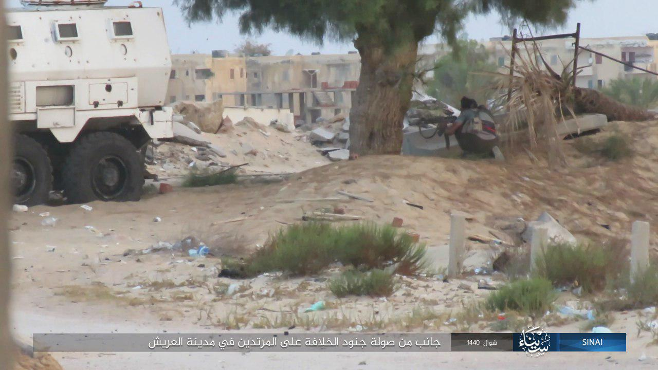 ISIS Releases Photos Of Arish Attack, Showcases Anti-Aircraft Missile