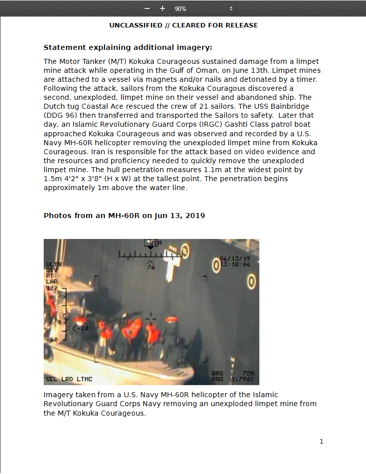 Naval Mines Don't Jump: Alternative Version Of Oil Tankers Attack In Gulf Of Oman