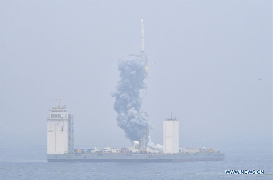 China Succesfully Condcucts Its First Sea-Based Space Rocket Launch