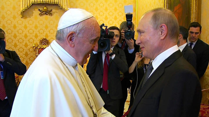Syria, Ukraine And Venezuela Were In Agenda Of Meeting Between Pope And Russian President