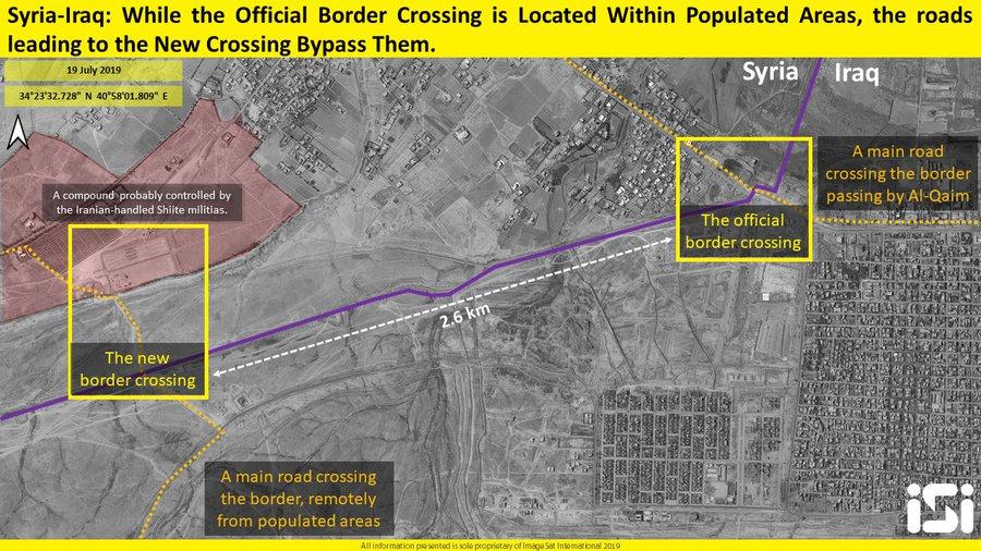 Satellite Image: Syria, Iraq Readying To Reopen Al-Bukamal Border Crossing
