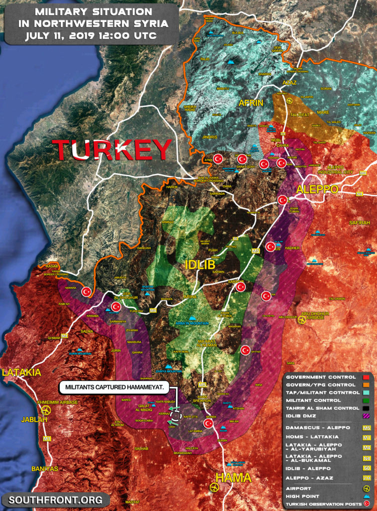 Syrian Army Launches Attack To Retake al-Hamameyat From Militants (Map)