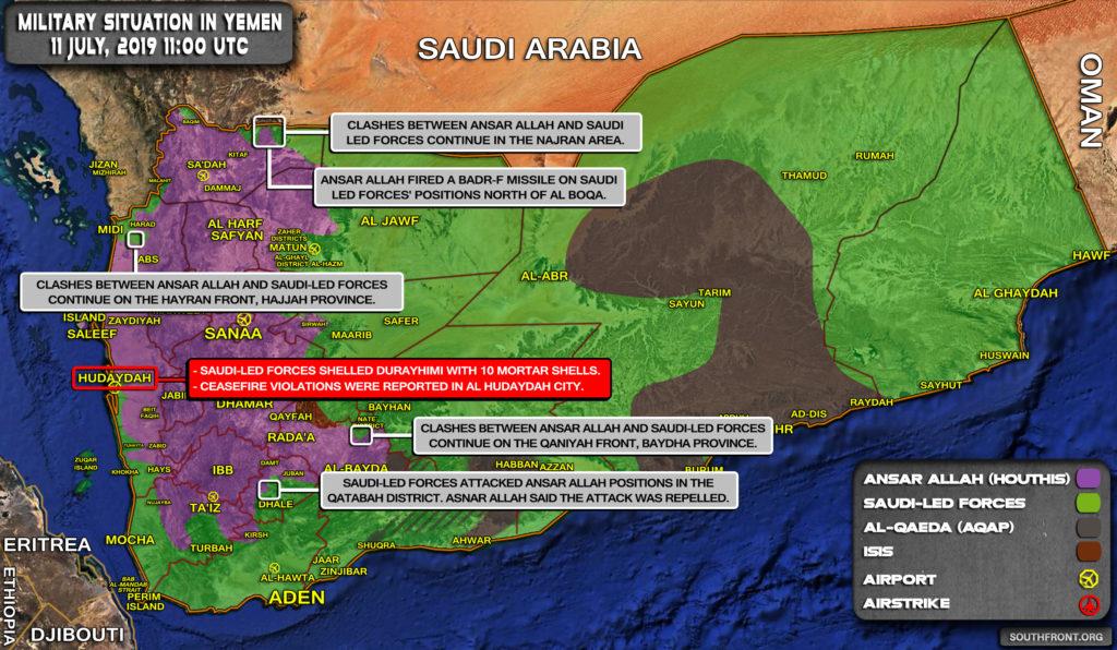 Houthis Strike Riyadh-backed Forces On Yemeni-Saudi Border (Videos, Map)