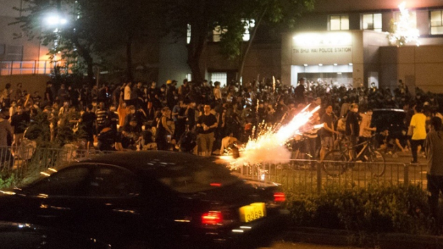 In Video: Hong Kong Protesters Shot At With Fireworks In Drive-By