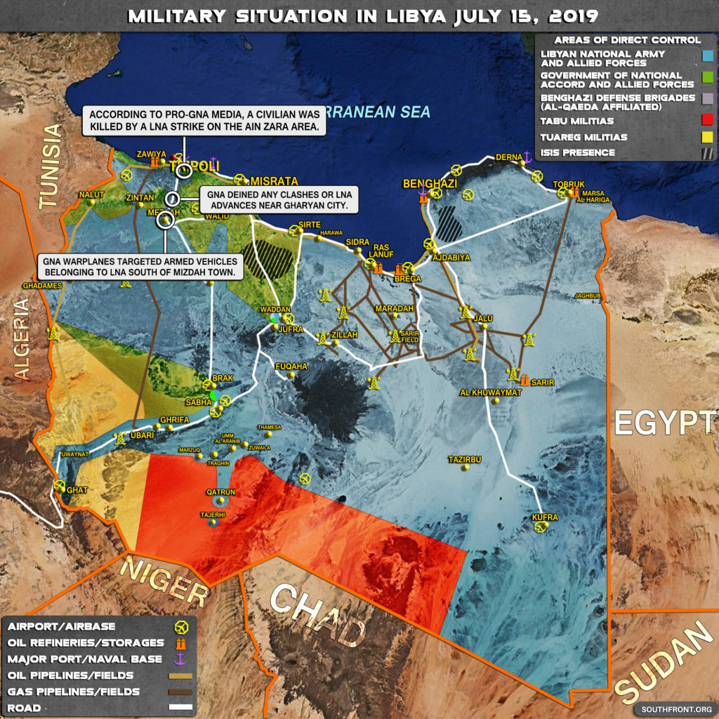 Military Situation In Libya On July 15, 2019 (Map Update)
