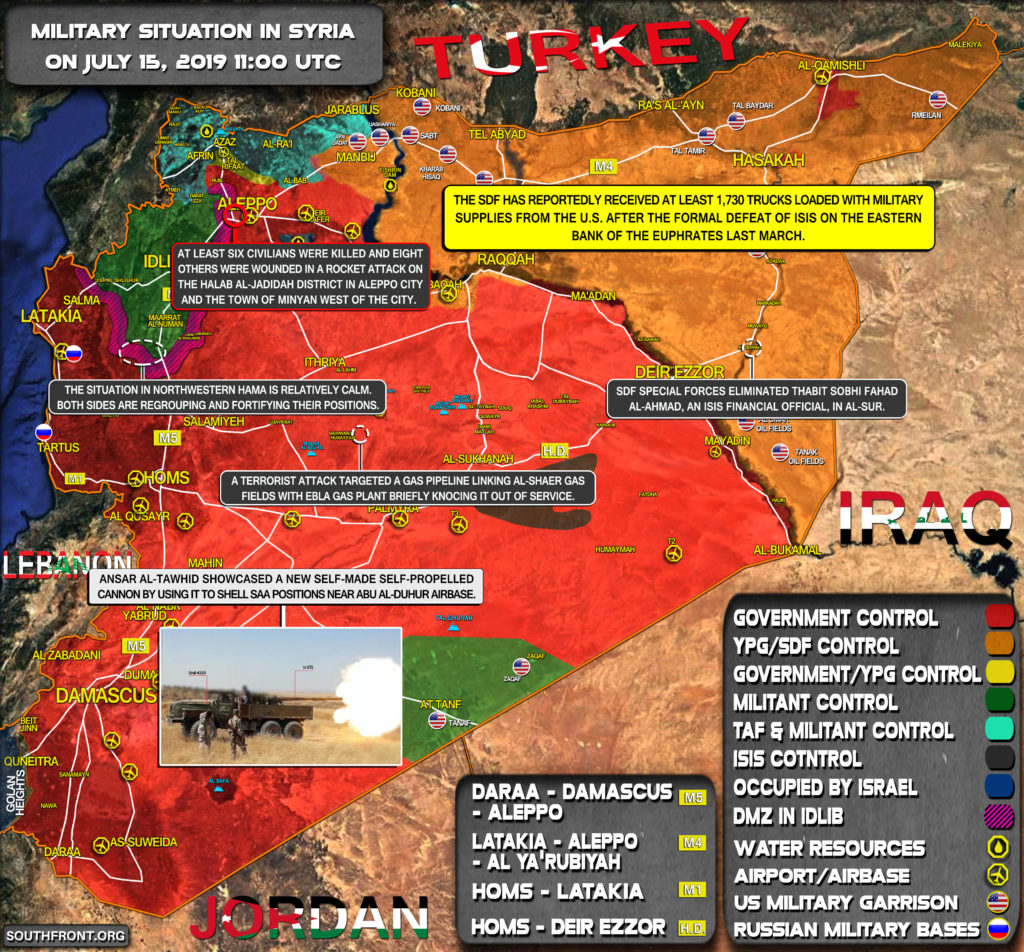 Military Situation In Syria On July 15, 2019 (Map Update)