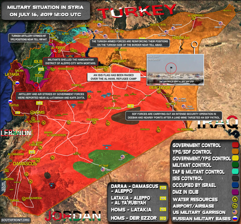 Military Situation In Syria On July 16, 2019 (Map Update)