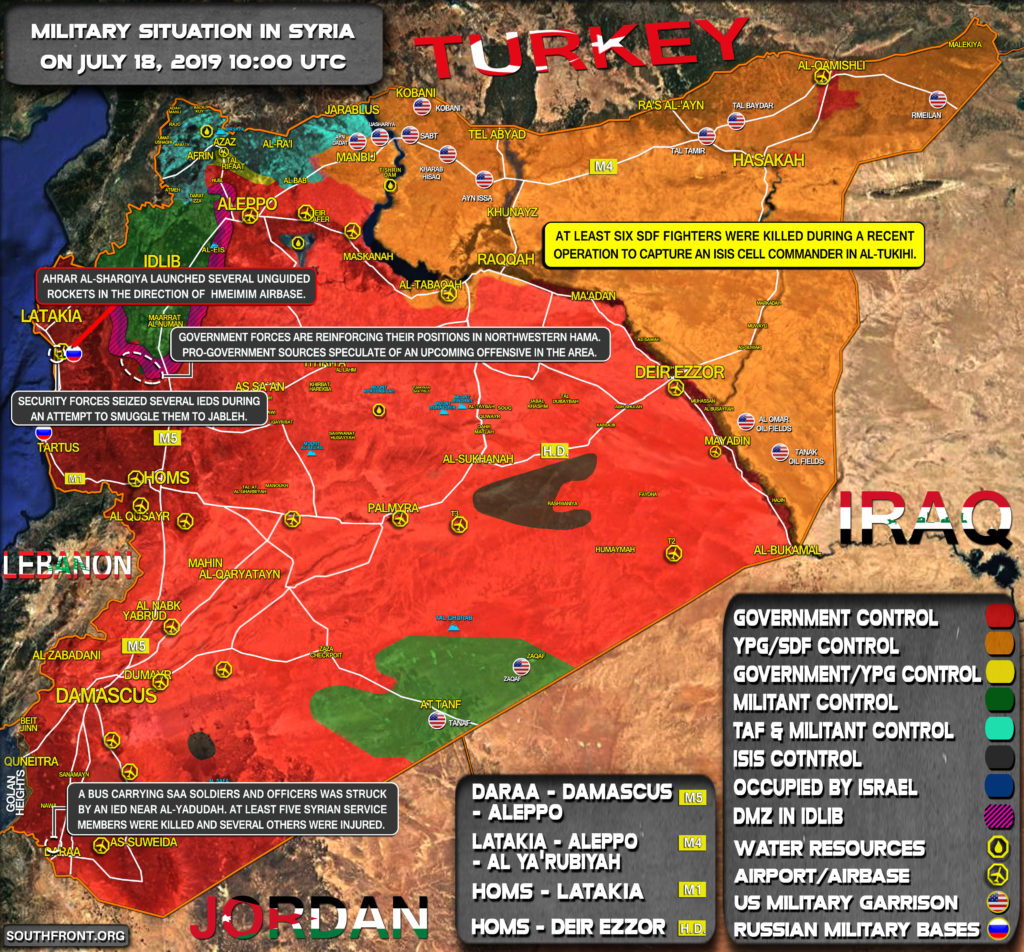 Military Situation In Syria On July 18, 2019 (Map Update)