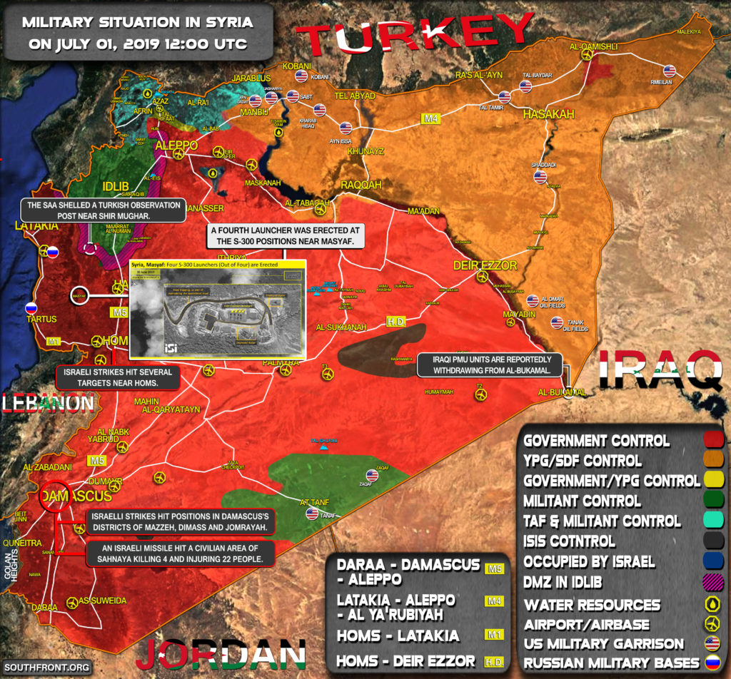 Military Situation In Syria On July 1, 2019 (Map Update)