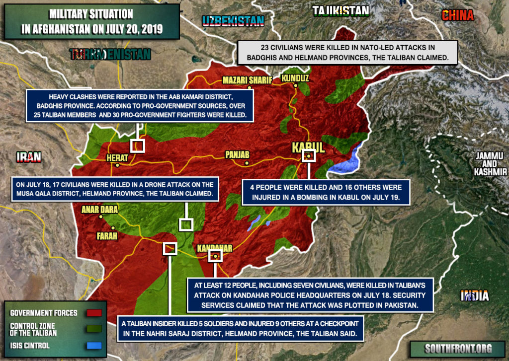 Military Situation In Afghanistan On July 20, 2019 (Map Update)