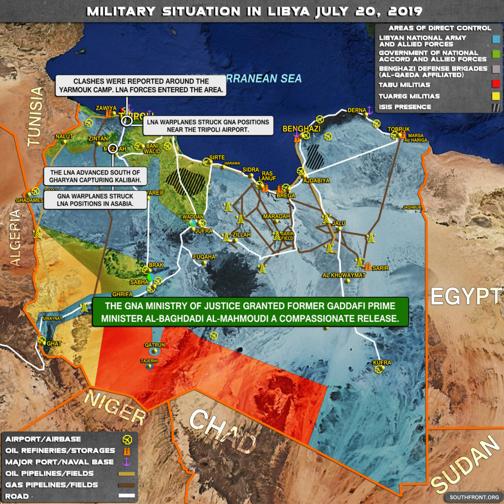 In Maps: Military Situation In Libya On July 20, 2019