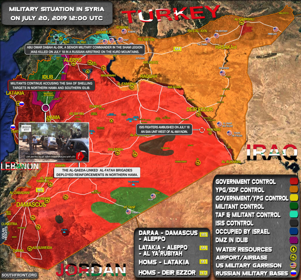 Military Situation In Syria On July 20, 2019 (Map Update)
