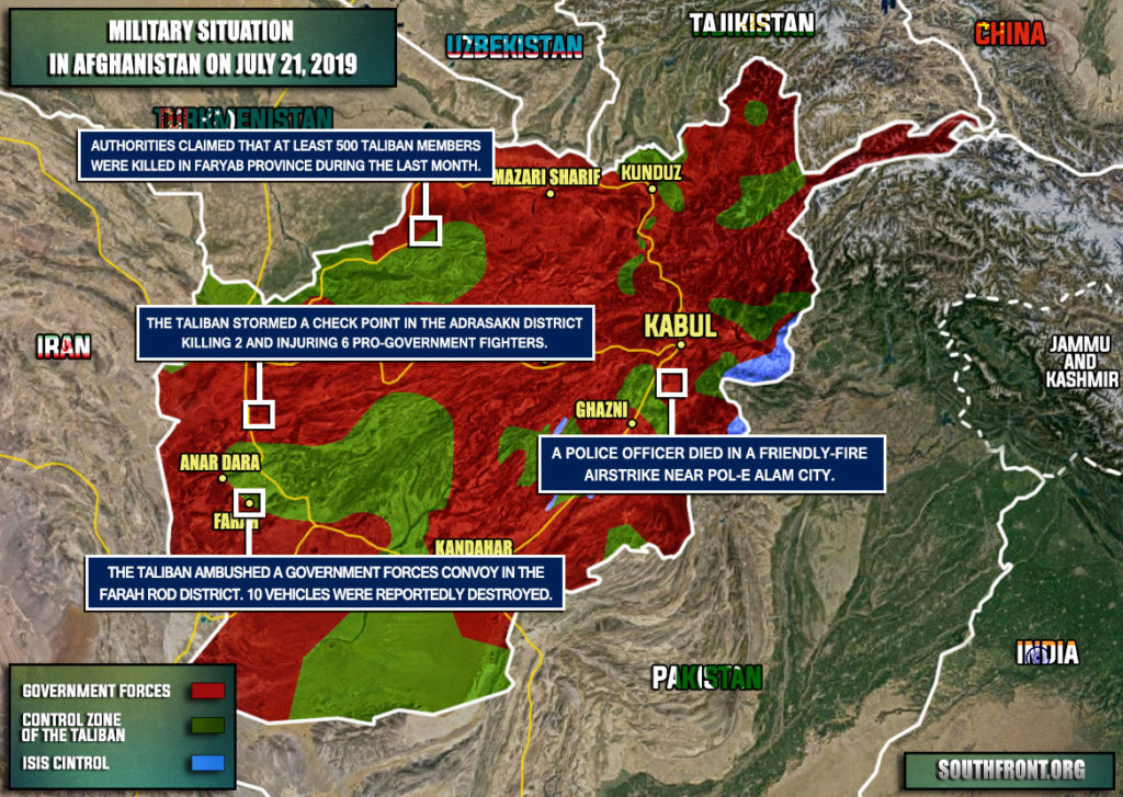 Military Situation In Afghanistan On July 21, 2019 (Map Update)