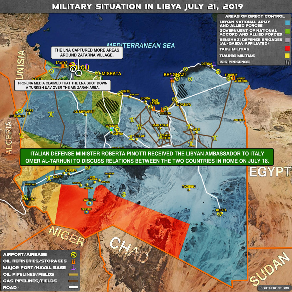 Military Situation In Libya On July 21, 2019 (Map Update)