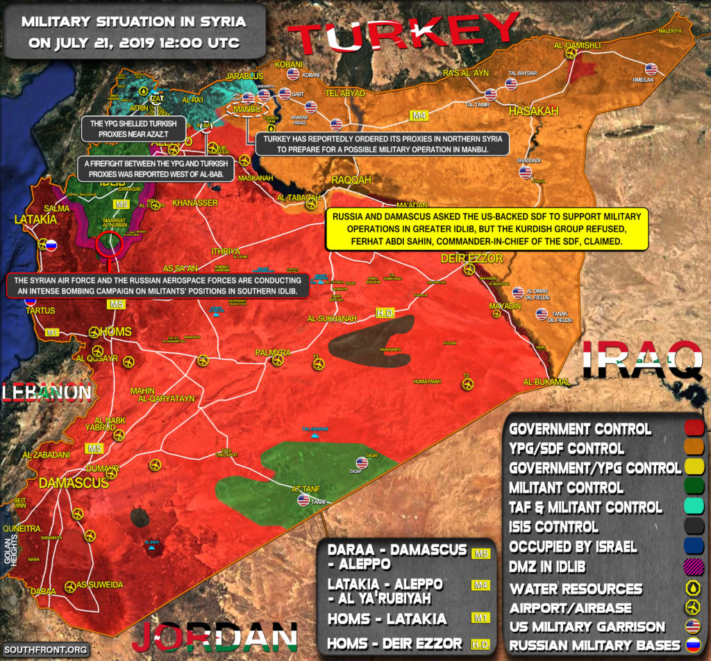 Military Situation In Syria On July 21, 2019 (Map Update)