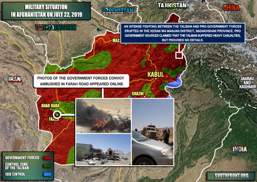 Taliban Is Storming Keran Wa Manjan District Of Afghanistan's Badakhshan Province (Map)