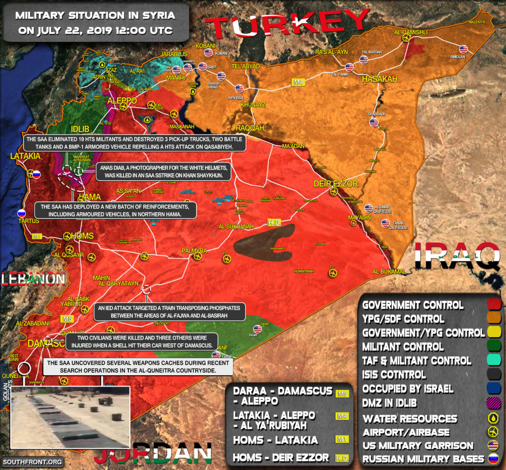 Military Situation In Syria On July 22, 2019 (Map Update)