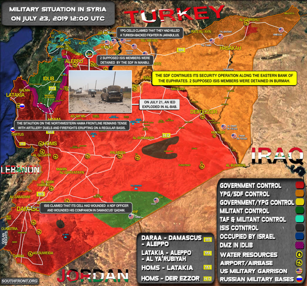 Military Situation In Syria On July 23, 2019 (Map Update)