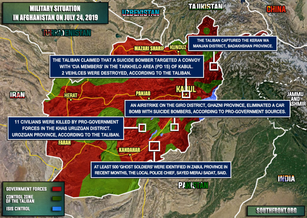 Military Situation In Afghanistan On July 24, 2019 (Map Update)