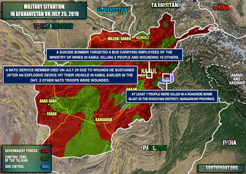 Military Situation In Afghanistan On July 25, 2019 (Map Update)