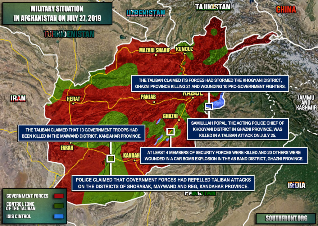 Military Situation In Afghanistan On July 27, 2019 (Map Update)