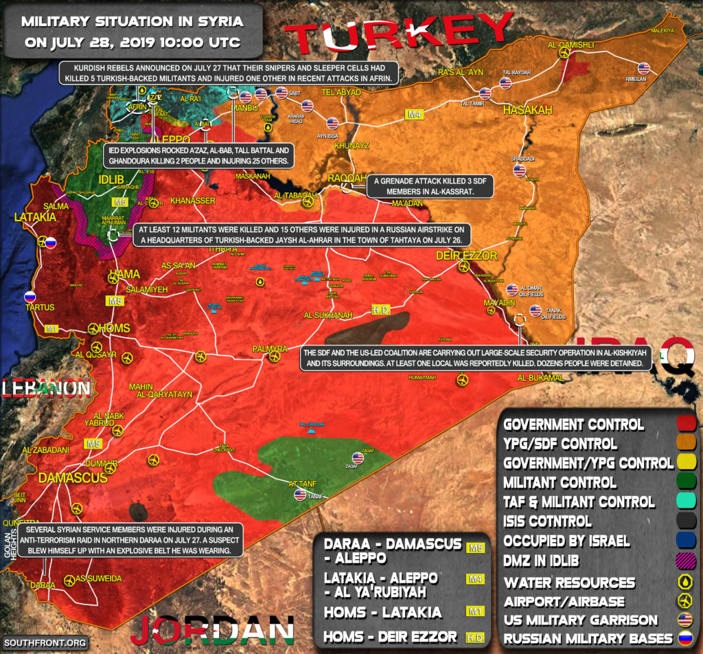 Military Situation In Syria On July 28, 2019 (Map Update)