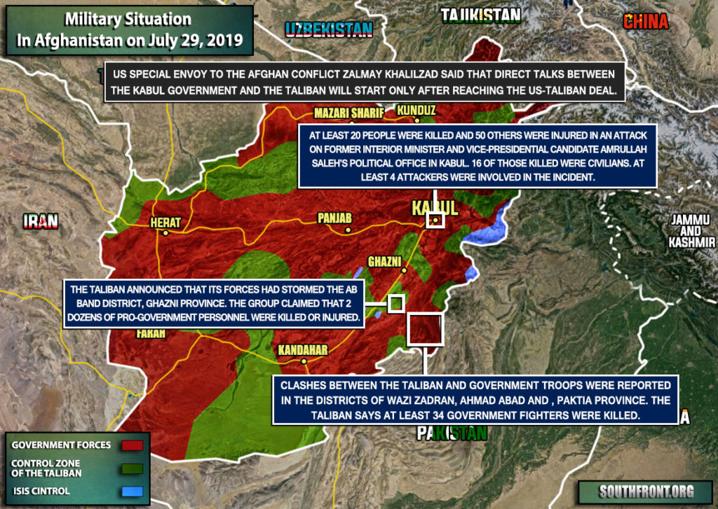Military Situation In Afghanistan On July 29, 2019 (Map Update)