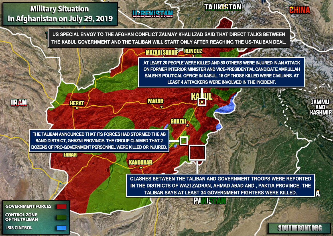 Military Situation In Afghanistan On July 29, 2019 (Map Update) on israel on map, yemen on map, iran on map, lebanon map, sudan on map, egypt on map, himalayas on map, congo on map, malaysia on map, north korea on map, mongolia on map, bangladesh on map, bhutan on map, indonesia on map, pakistan on map, thailand on map, nepal on map, armenia on map, the arabian sea on map, kuwait on map,