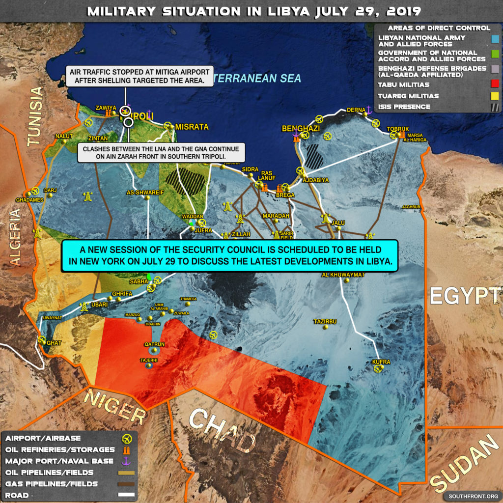 Military Situation In Libya On July 29, 2019 (Map Update)