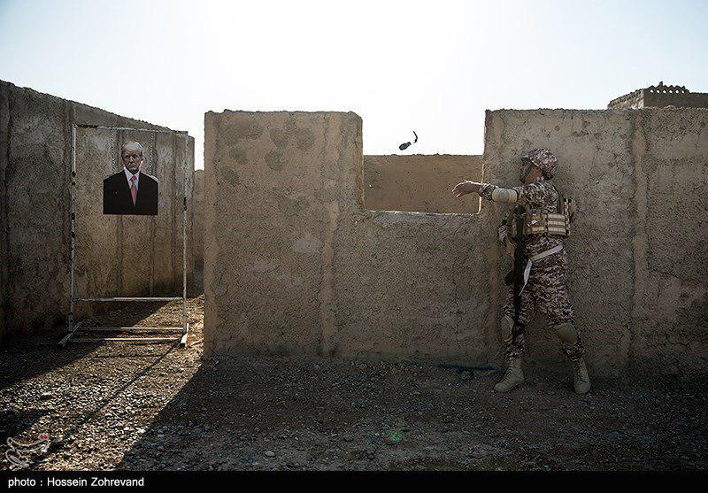 In Photos: Iranian Troops Use Photos Of Trump And Netanyahu As Training Targets