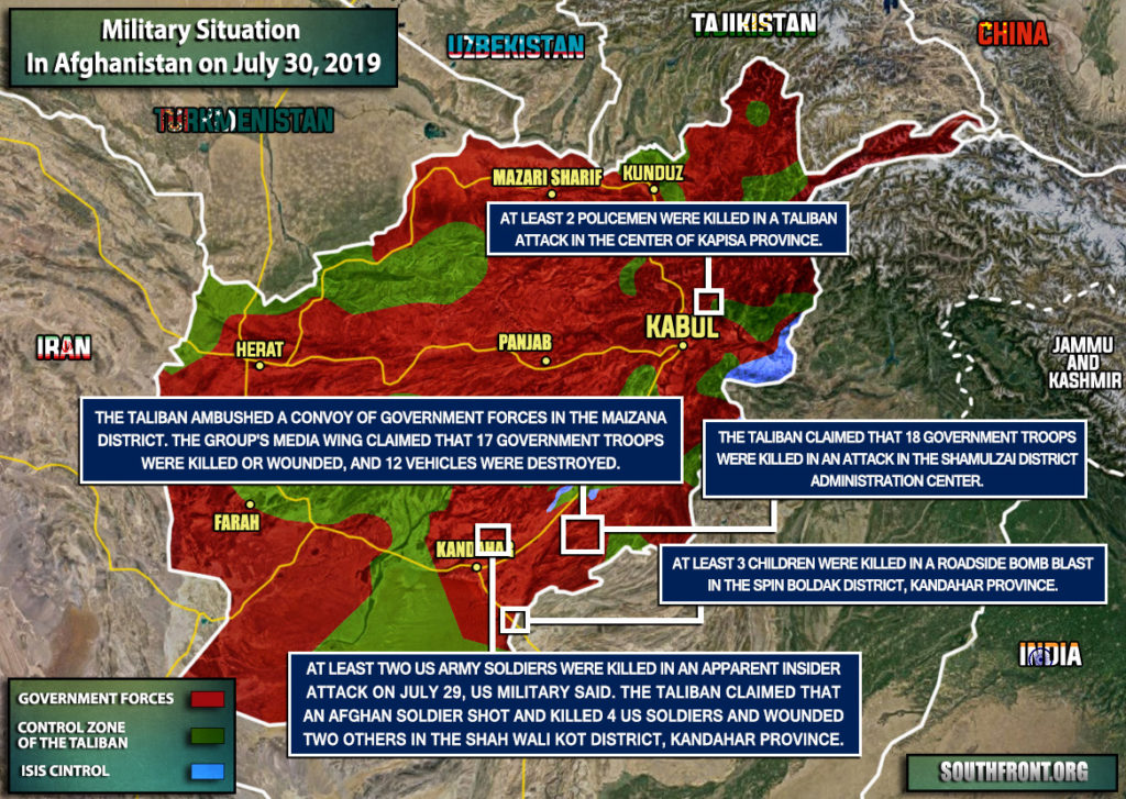 Military Situation In Afghanistan On July 30, 2019 (Map Update)