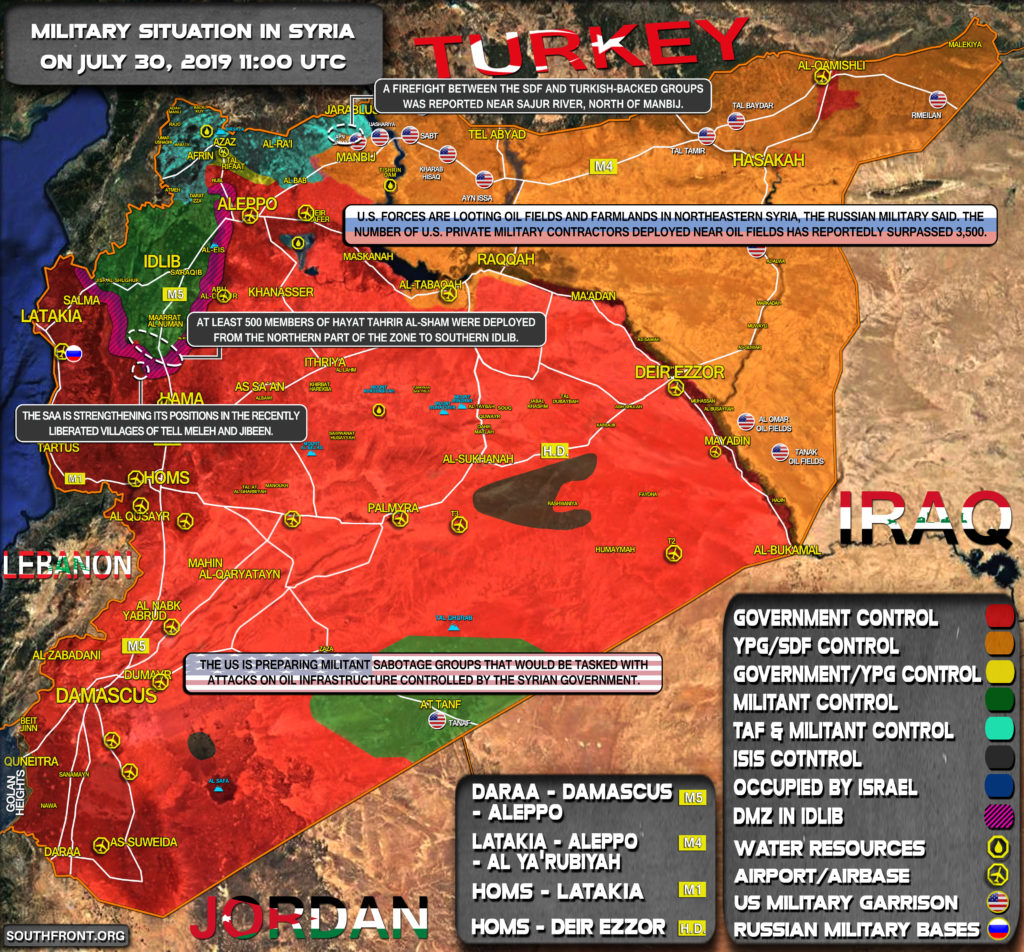 Military Situation In Syria On July 30, 2019 (Map Update)
