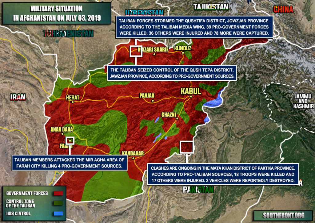 Military Situation In Afghanistan On July 3, 2019 (Map Update)