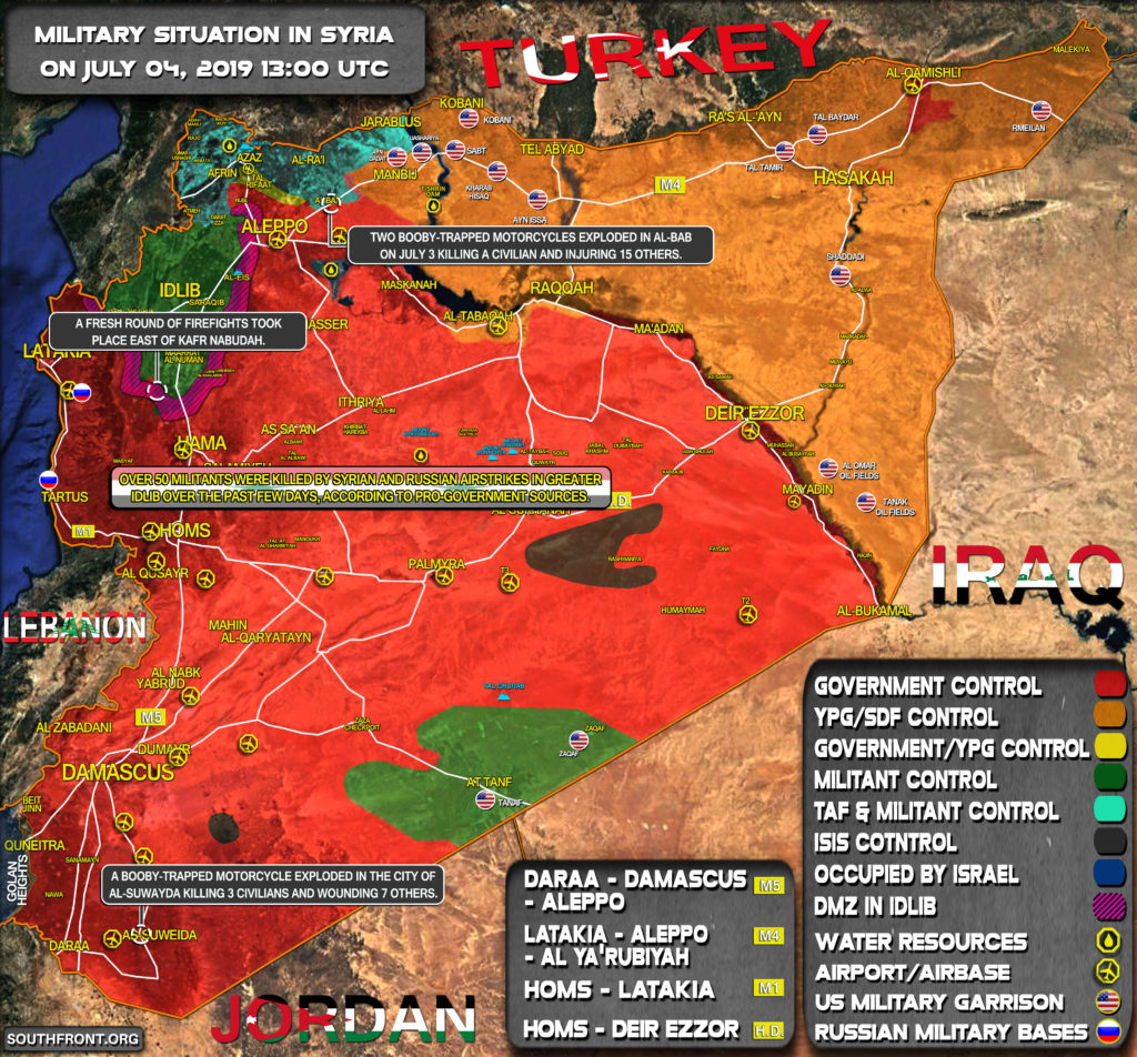 Military Situation In Syria On July 4, 2019 (Map Update)