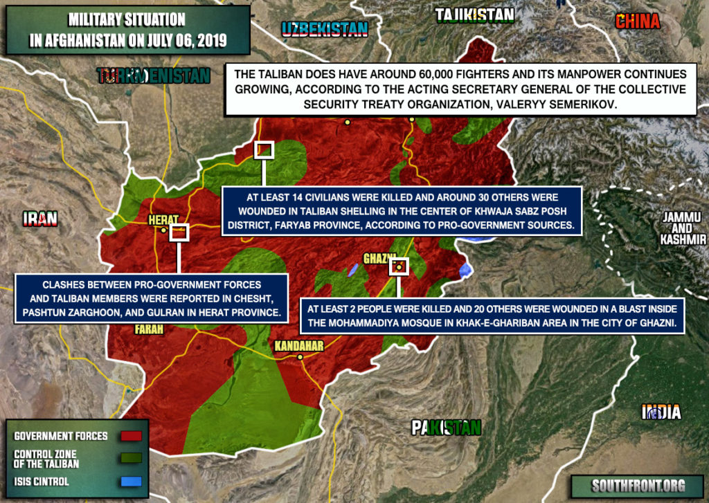 Military Situation In Afghanistan On July 6, 2019 (Map Update)