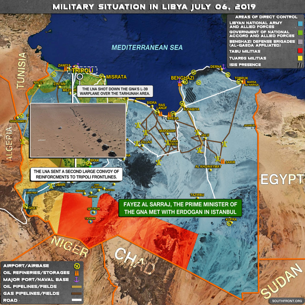 Military Situation In Libya On July 6, 2019 (Map Update)