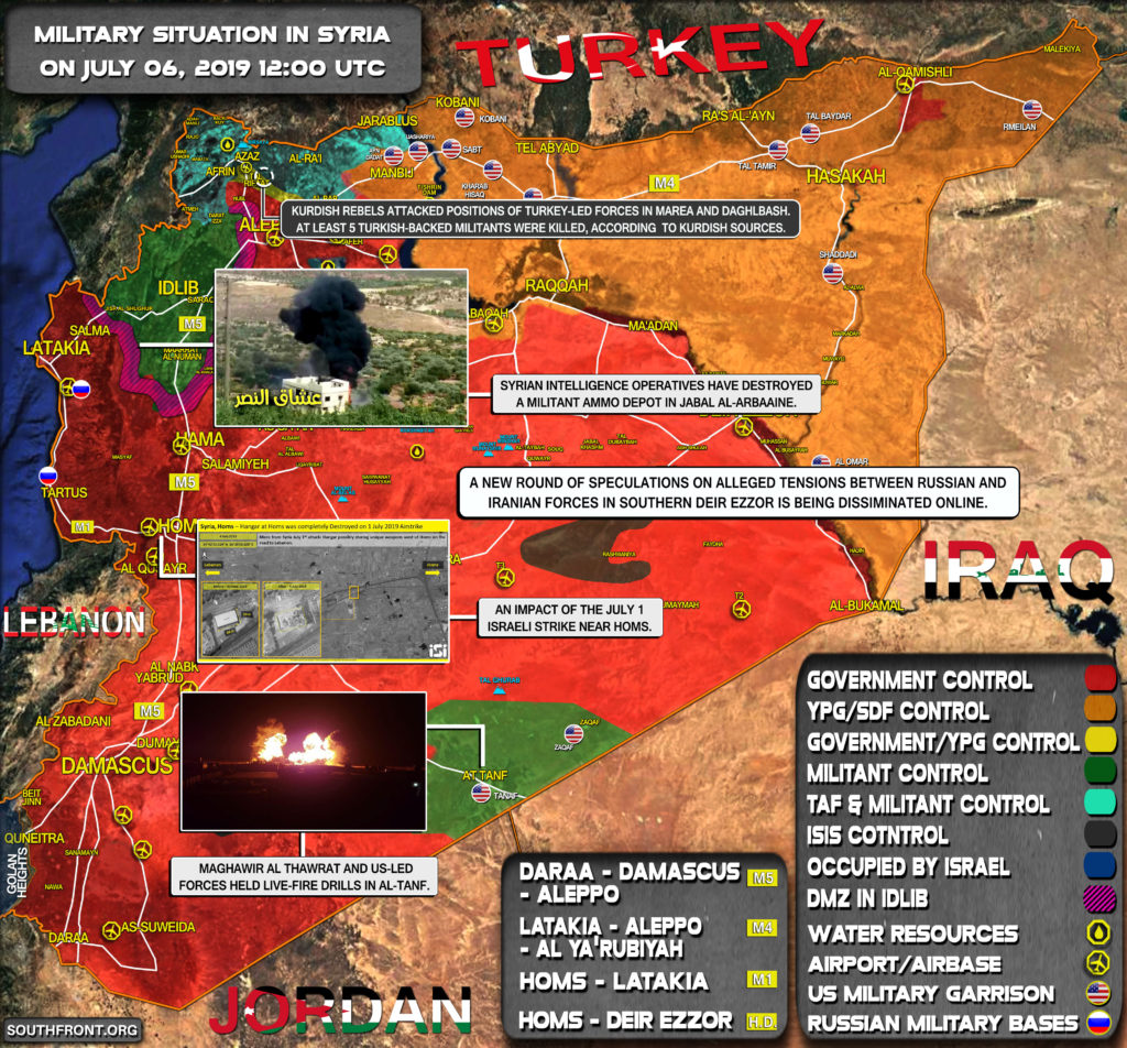 Military Situation In Syria On July 6, 2019 (Map Update)