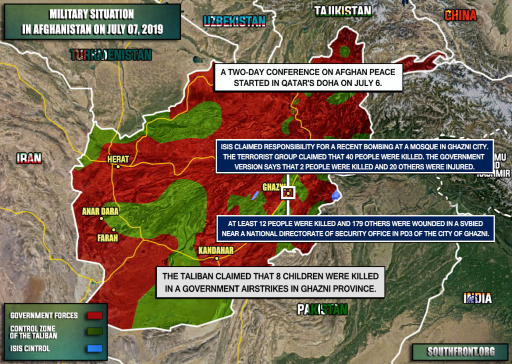 Military Situation In Afghanistan On July 7, 2019 (Map Update)