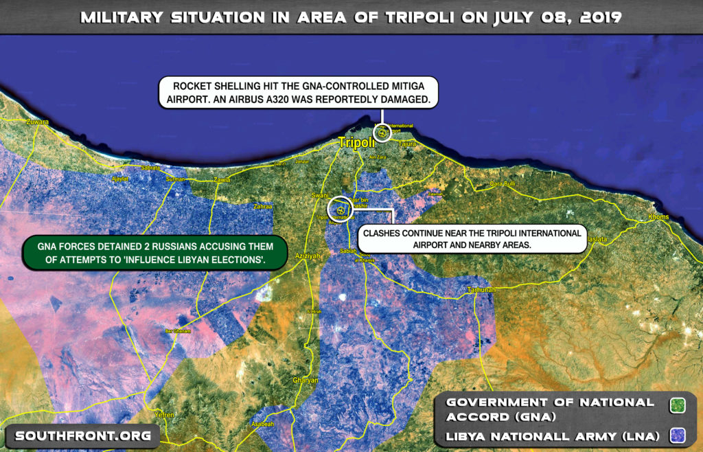 Military Situation In Libya On July 8, 2019 (Map Update)
