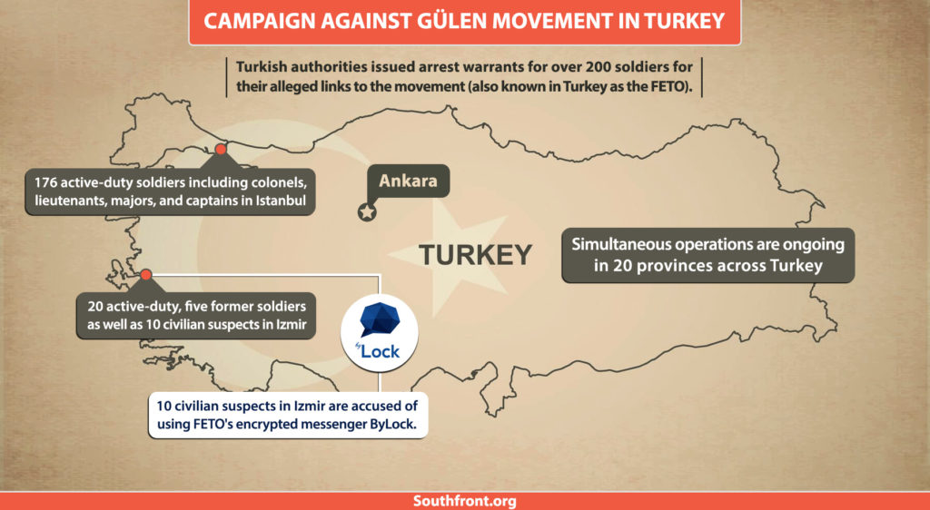 Turkish Authorities Issued Arrest Warrants For Over 200 Soldiers Allegedly Linked To Gulen Movement