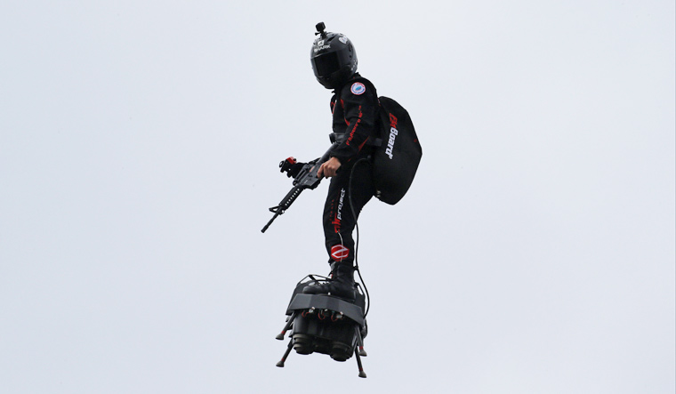 French Flyboard Air Showcased At Bastille Day Parade, Days Before Its Used For First Flight Over English Channel