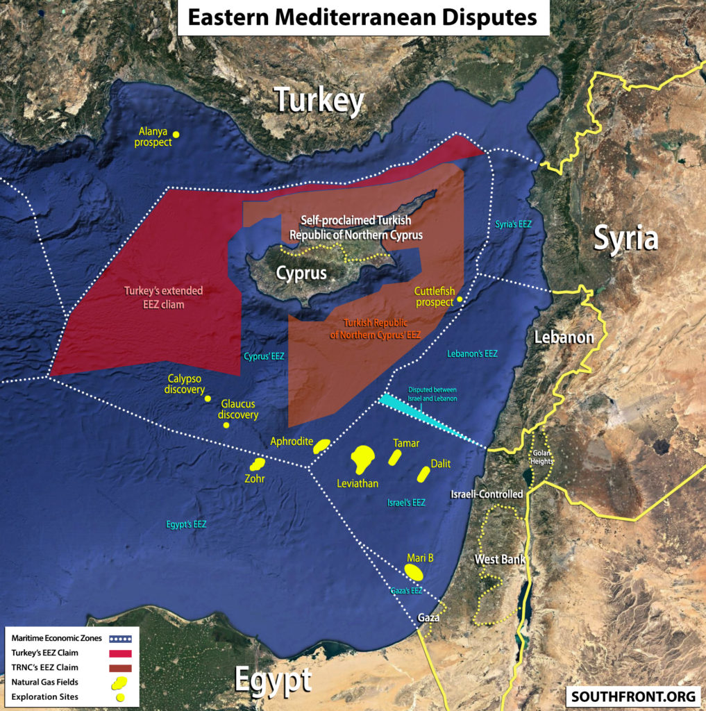 Disputes In Eastern Mediterranean (Map, Satellite Images)