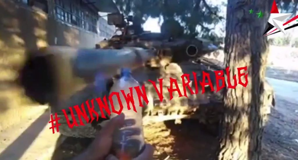 #BottleCapChallenge - Syria-Style: T-90 In Action