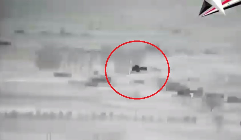 First-Person View: Syrian T-90 Battle Tank Eliminates Militants' Vehicle On Hama Frontline